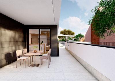 Attic Villanueva Interior terraza